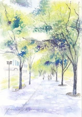 6月水彩色えんぴつ教室 大阪淀屋橋にて