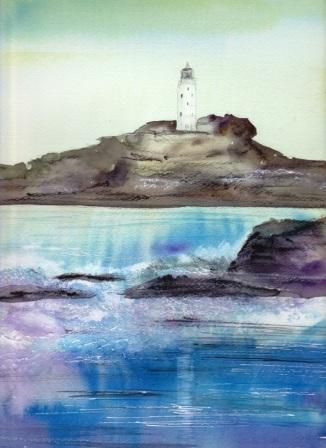 7月28日 風景画を描く 灯台