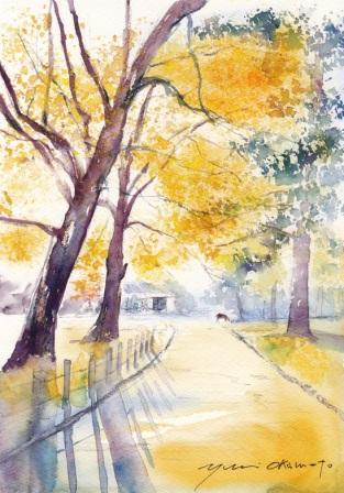 11月朝日カルチャー風景画コース 奈良公園