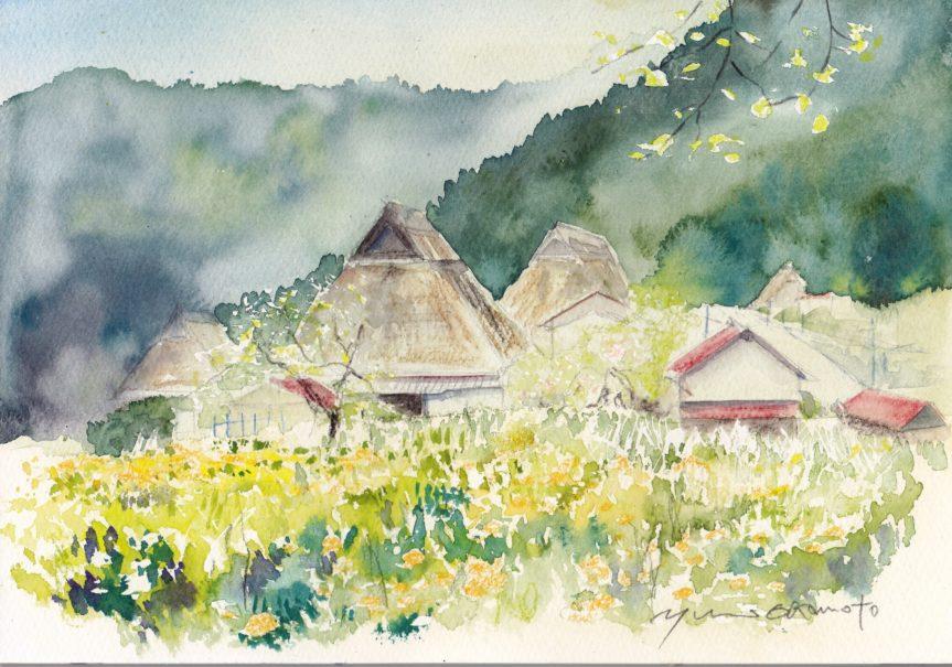 4月朝日カルチャー 風景画コース 美山の春