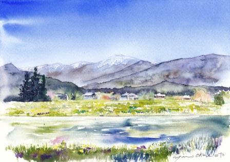 5月朝日カルチャー風景画コース 安曇野の春