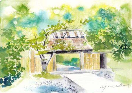 7月朝日カルチャー 風景画コース 湯布院亀の井別荘