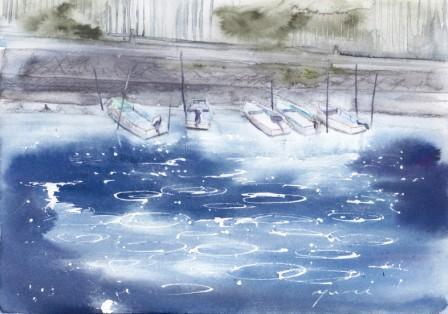 8月朝日カルチャー風景画コース 和歌の浦