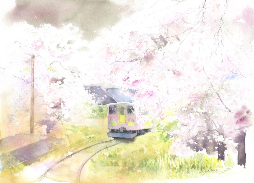 calendar March 岐阜県樽見鉄道