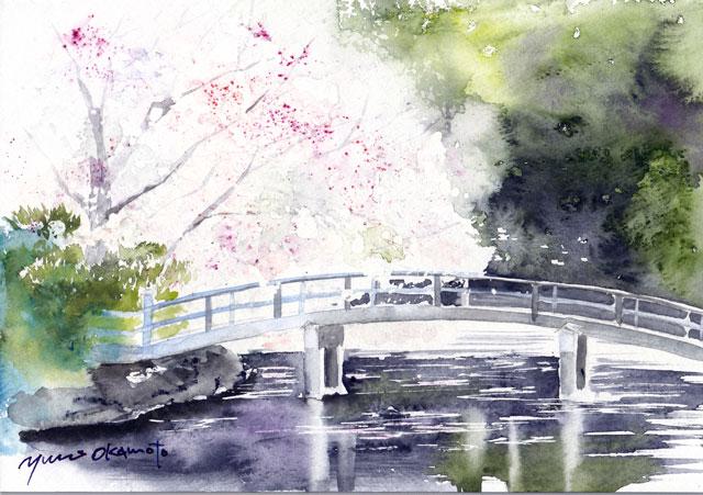 3月 朝日カルチャー風景画 桜