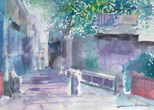 8月産経学園 透明水彩 京都白川