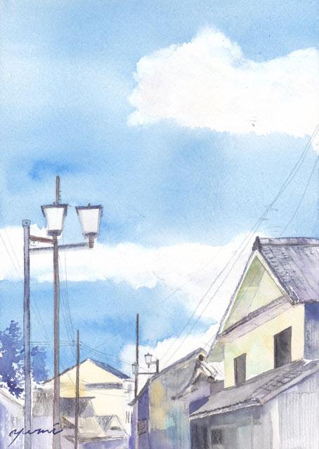 8月朝日カルチャー風景画 丹波篠山