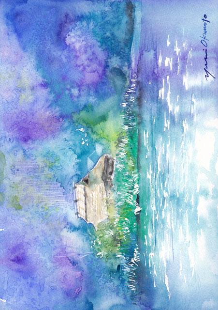 8月産経学園 透明水彩画 湯布院