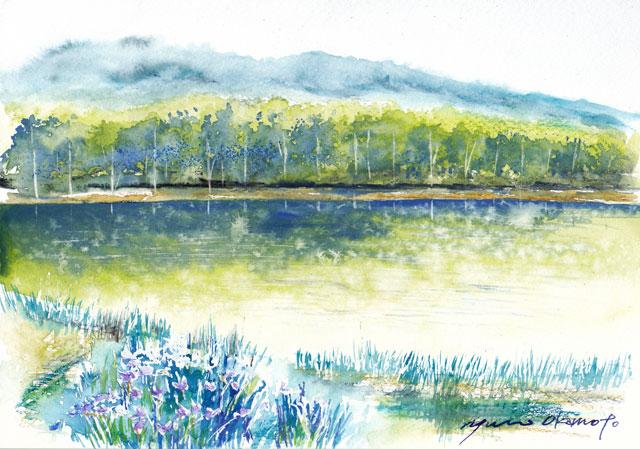 9月朝日カルチャー 風景画 北海道日高 三岩