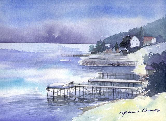 8月産経学園 透明水彩風景画 ノルウェー
