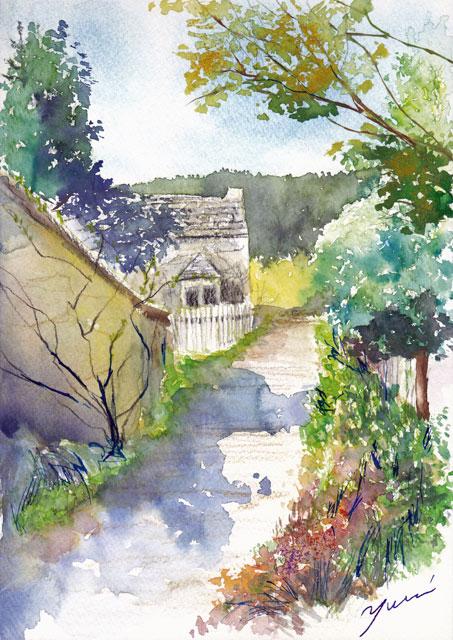 12月水彩色えんぴつ風景画コース「田舎道」