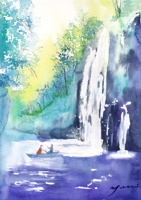 5月水彩色えんぴつ風景画コース「高千穂峡」