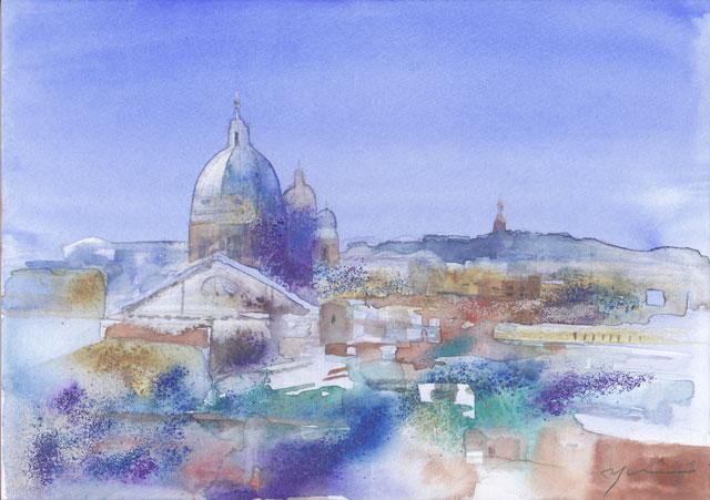 7月水彩色えんぴつ風景画コース「イタリア」