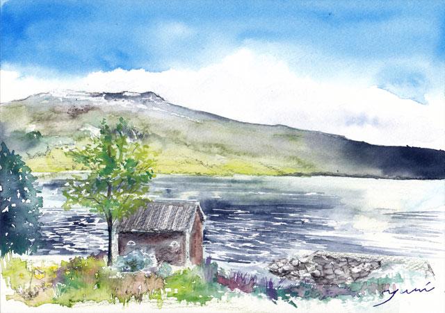 8月水彩色えんぴつ 風景画コース「ノールフィヨルド」