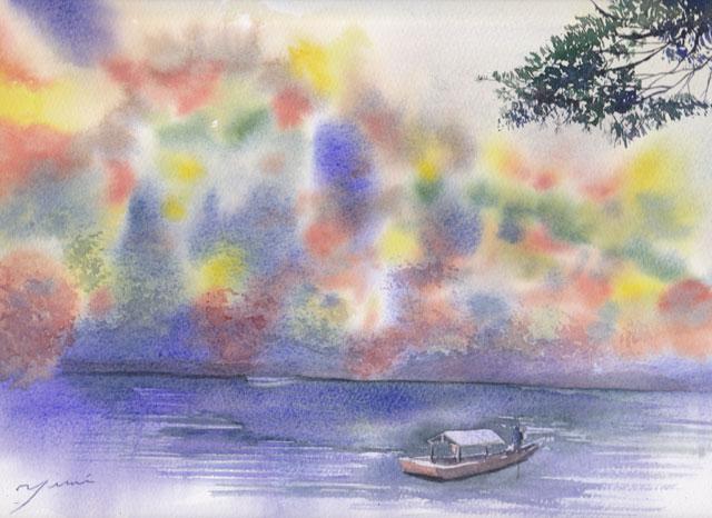 11月産経学園透明水彩 「嵐山」