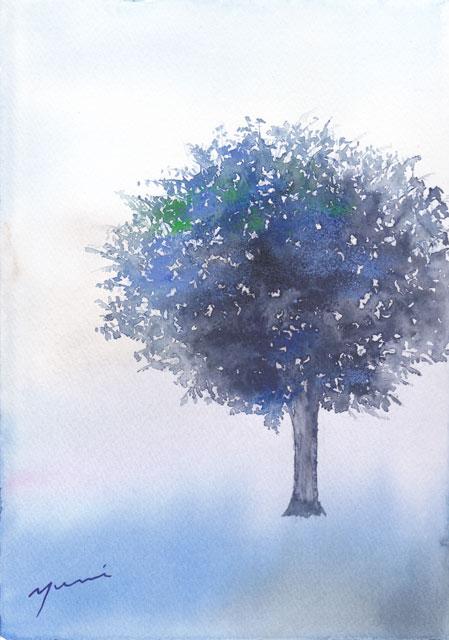 4月水彩色えんぴつ教室「tree」