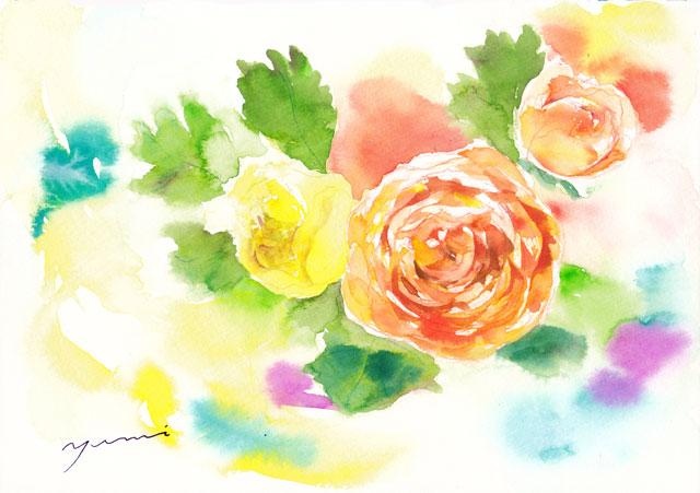 5月水彩色えんぴつ教室「ラナンキュラス」