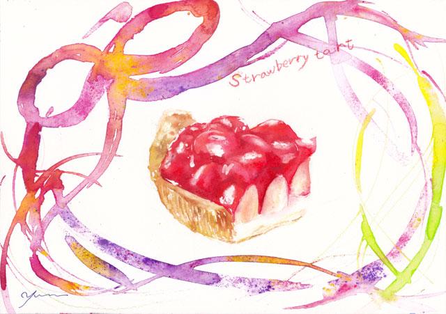 5月水彩色えんぴつ教室「Strawberry tart」