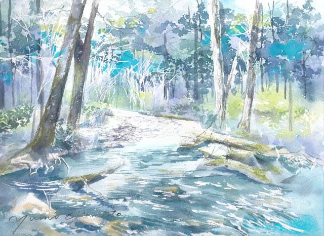 9月産経学園 透明水彩 「上高地」