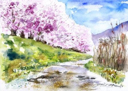 3月の朝日カルチャーセンター 風景画コース
