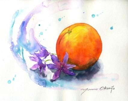 1004オレンジとリューココリーネ