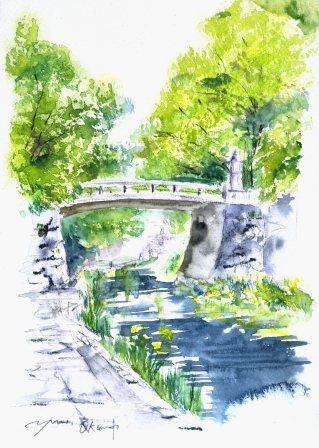6月の朝日カルチャーセンター 風景画コース