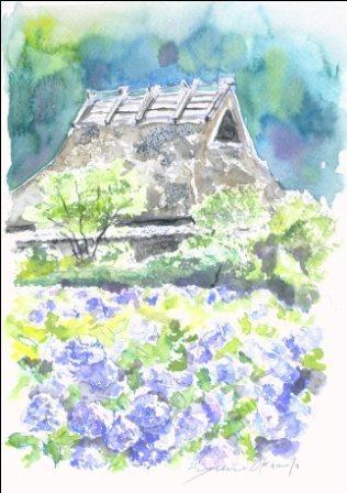6月の水彩色えんぴつ教室 モチーフ