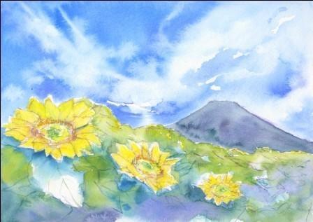 8月の朝日カルチャーセンター 風景画コース