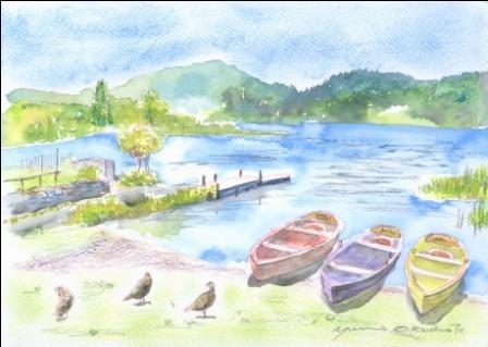 9月の朝日カルチャーセンター 風景画コース
