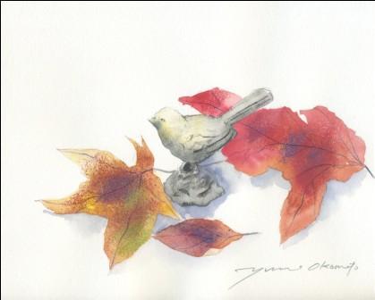 11月の水彩色えんぴつ教室 モチーフ