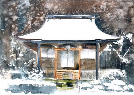 1月水彩色えんぴつ教室 朝日カルチャー:風景画コース