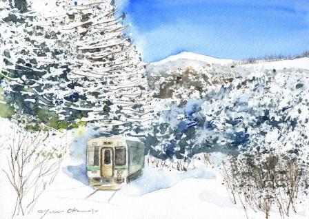 2月水彩色えんぴつ教室 朝日カルチャー教室 風景画コース