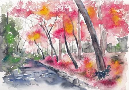 10月の朝日カルチャー 風景画コース
