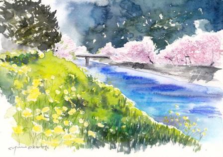 3月朝日カルチャーセンター 風景画コース