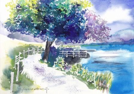 7月の朝日カルチャー 風景画コース