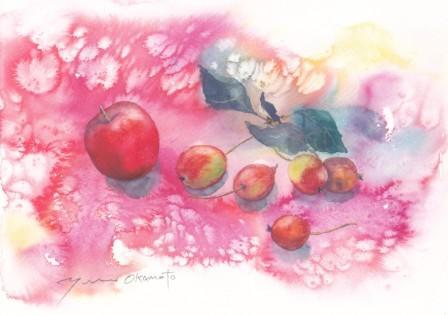 10月の水彩色えんぴつ教室 モチーフ その2