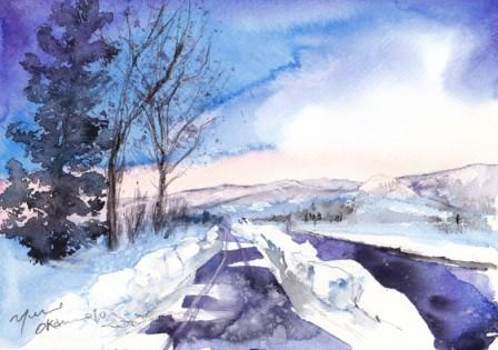 12月の朝日カルチャー 風景画コース