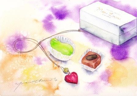 3月の水彩色えんぴつ教室 chocolate