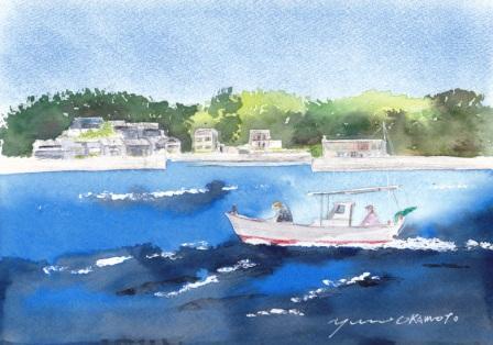 朝日カルチャー風景画コース 瀬戸内海の小島