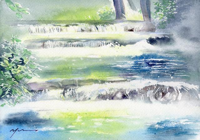 2月水彩色鉛筆風景画コース「おとずれ」
