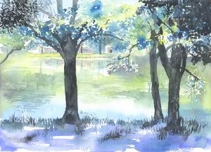 6月29日(水)初めての水彩色えんぴつ画