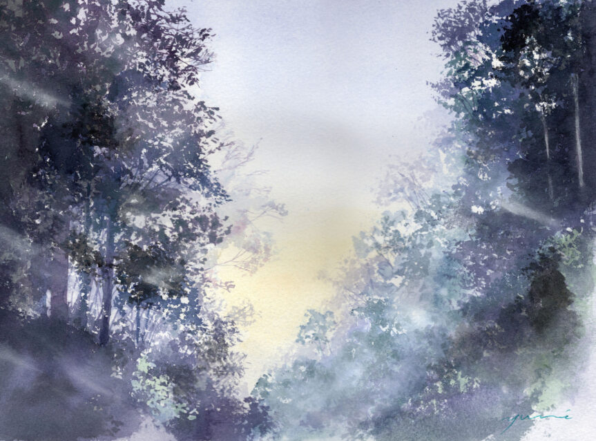 8月 透明水彩「ヒカリへ」産経学園