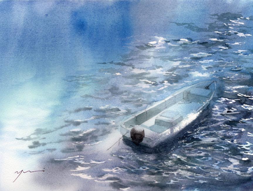12月 透明水彩「みなも」産経学園