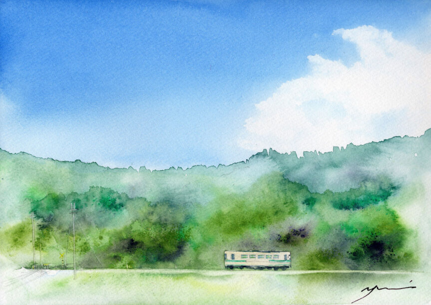5~6月水彩色鉛筆教室「一人旅」