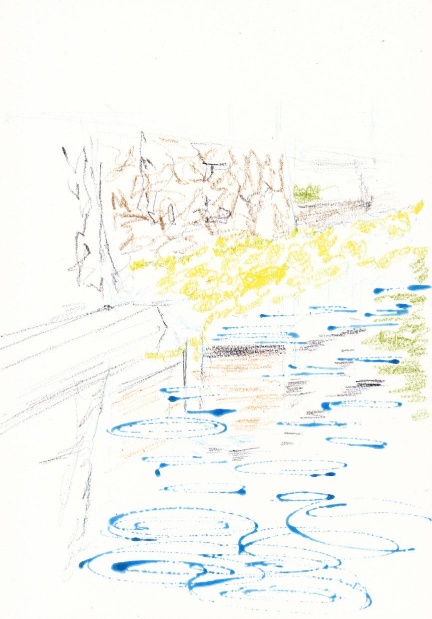 雨を描く 近江八幡工程